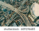 aerial view of a massive... | Shutterstock . vector #609196685