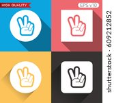 colored icon or button of peace ... | Shutterstock .eps vector #609212852