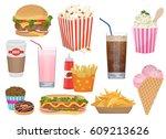the set of vector illustrations ... | Shutterstock .eps vector #609213626