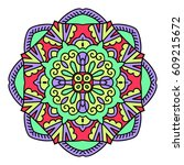 mandala. vector ethnic oriental ...   Shutterstock .eps vector #609215672