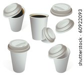 set of paper coffe cups... | Shutterstock .eps vector #60922093