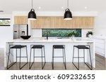 large luxury australian kitchen ... | Shutterstock . vector #609232655