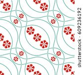 seamless tiled pattern of... | Shutterstock .eps vector #609236192