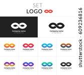 infinity logo abstract vector...   Shutterstock .eps vector #609236816