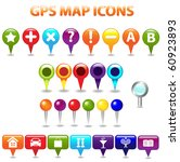 27 gps color map icons ... | Shutterstock .eps vector #60923893