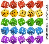 Vector Casino Dice Set Of...