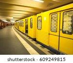 metro station in berlin ... | Shutterstock . vector #609249815