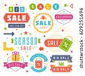 sale badges and tags design... | Shutterstock .eps vector #609251696