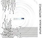 vector circuit board... | Shutterstock .eps vector #609256412