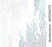 vector circuit board... | Shutterstock .eps vector #609256472
