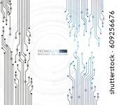 vector circuit board... | Shutterstock .eps vector #609256676