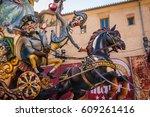 valencia  spain   march 19 ... | Shutterstock . vector #609261416