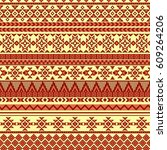 ethnic seamless pattern with...   Shutterstock .eps vector #609264206
