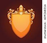 vector image of a gold heraldic ... | Shutterstock .eps vector #609268316