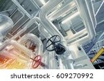 equipment  cables and piping as ... | Shutterstock . vector #609270992