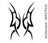 tattoo sketch tribal vector... | Shutterstock .eps vector #609275222