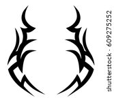tattoo sketch tribal vector... | Shutterstock .eps vector #609275252
