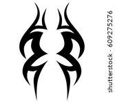 tattoo sketch tribal vector... | Shutterstock .eps vector #609275276