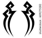 tattoo sketch tribal vector... | Shutterstock .eps vector #609275282