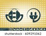 socket plug vector icon   Shutterstock .eps vector #609291062