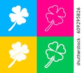 leaf clover sign. four styles...