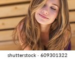 beautiful woman | Shutterstock . vector #609301322