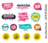 sale shopping banners. special... | Shutterstock .eps vector #609305066