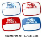hello my name is color signs... | Shutterstock .eps vector #60931738