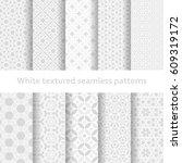 white textured seamless... | Shutterstock .eps vector #609319172