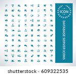 database server icon set clean... | Shutterstock .eps vector #609322535