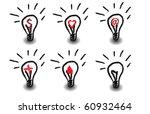 idea's light bulbs set | Shutterstock .eps vector #60932464