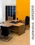 Large Wooden Desk In A Modern...