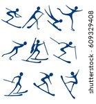 winter sports  | Shutterstock .eps vector #609329408