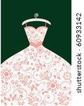 wedding dress  elements and...   Shutterstock .eps vector #60933142