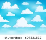 clouds on sky theme 3   eps10... | Shutterstock .eps vector #609331832