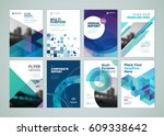 brochure  annual report  flyer... | Shutterstock .eps vector #609338642