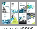brochure  annual report  flyer... | Shutterstock .eps vector #609338648