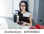 office on background ... | Shutterstock . vector #609340862
