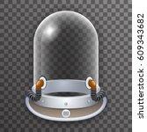 retro realistic helmet 3d... | Shutterstock .eps vector #609343682