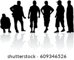 silhouette of a man. | Shutterstock .eps vector #609346526