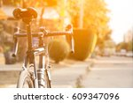 road bike  in the city at... | Shutterstock . vector #609347096