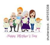 happy mother's day. vector... | Shutterstock .eps vector #609355208