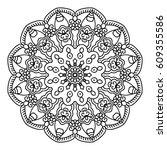 mandala for painting. vector... | Shutterstock .eps vector #609355586