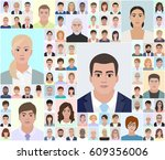 different portraits  choose... | Shutterstock .eps vector #609356006