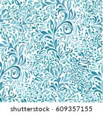 abstract sea waves background.... | Shutterstock .eps vector #609357155