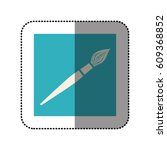 color sticker square with brush ... | Shutterstock .eps vector #609368852