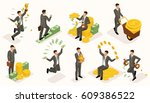 trendy isometric people vector  ... | Shutterstock .eps vector #609386522