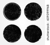 grunge shapes circle frames... | Shutterstock .eps vector #609399968