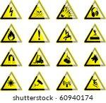 hazard symbols 1 | Shutterstock .eps vector #60940174
