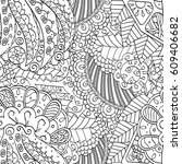 tracery seamless pattern.... | Shutterstock .eps vector #609406682